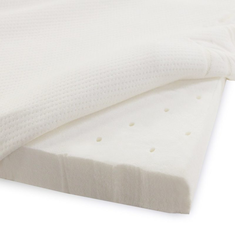 Latex Foam 2 Inch Mattress Topper With Removable Velour Cover