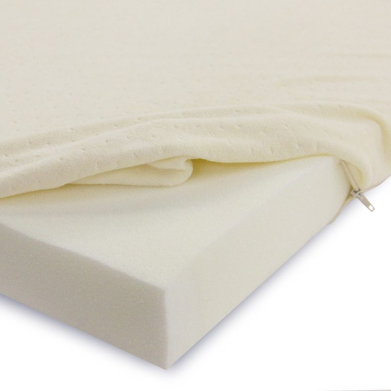 Memory Foam 2 Inch Mattress Topper With Removable Velour Cover